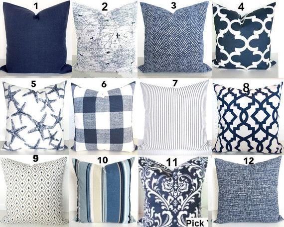 Blue Throw Pillow Indigo Blue Pillow