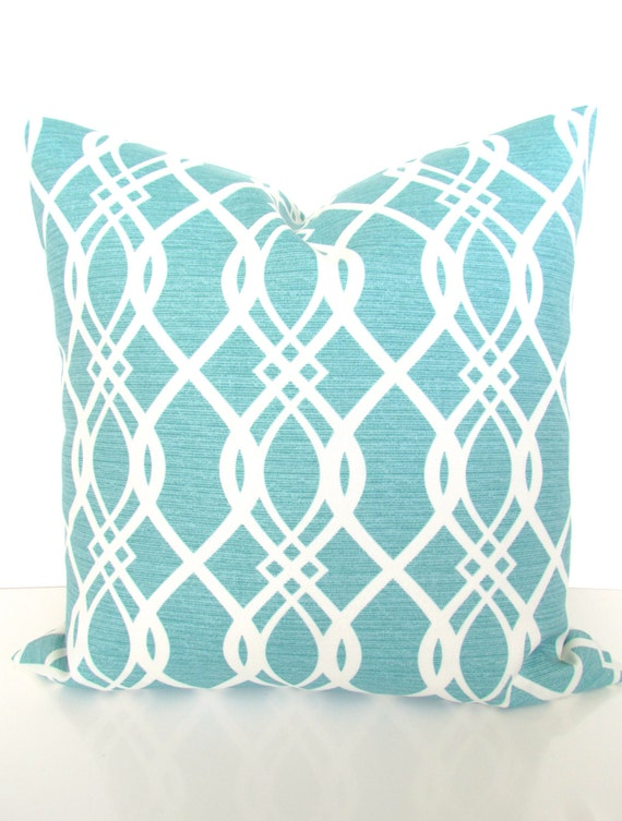 Mint Outdoor Pillows TURQUOISE OUTDOOR Throw Pillow Covers Etsy Fascinating Throw Pillow Covers Etsy