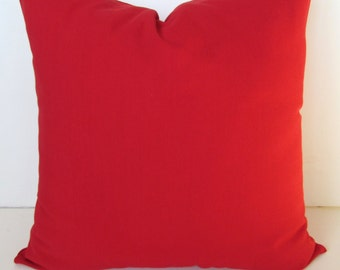 RED PILLOWS Throw Pillows Solid Red Throw Pillow Covers Solid Red Pillow Covers 16 18 20x20 .All Sizes. home decor Home and Living