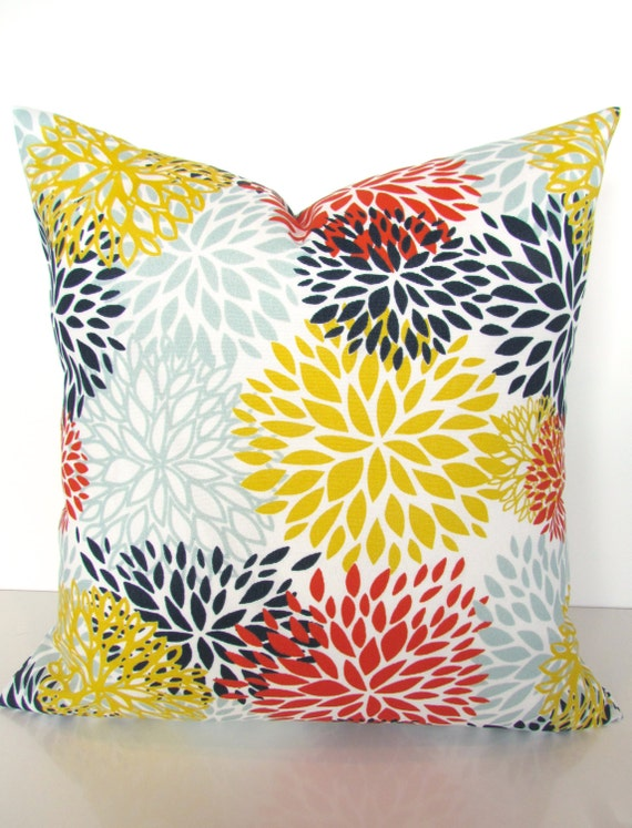 Select size Indoor Outdoor Yellow  Coral Pillow cover stain /& dirt resistant