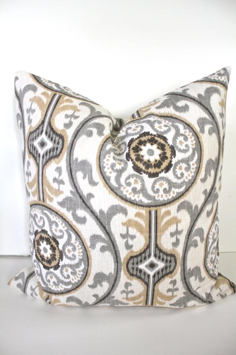 Tan PILLOW COVER TAN Throw Pillow Covers Gray Decorative Throw image 0