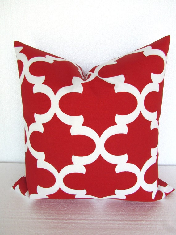 SALE RED OUTDOOR Pillows Red Throw Pillows Red Outdoor Pillow Covers 16  18x18 20 Christmas Outdoor Red Pillow Covers Moroccan Pillows
