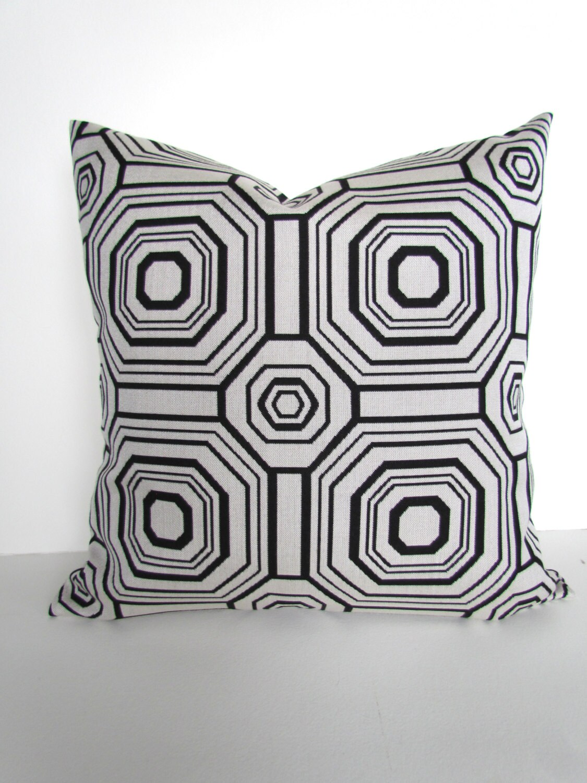 Black Pillows Outdoor Throw Pillow Covers Sunbrella High End Etsy