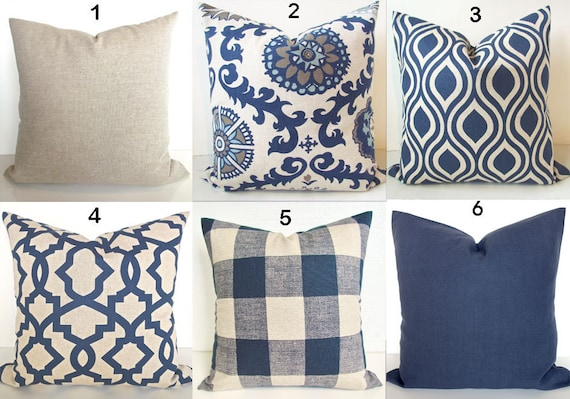 24x24 throw pillow couch image blue pillows navy blue throw pillow covers dark pillows etsy