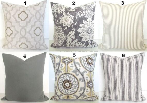 GRAY PILLOWS TAN Throw Pillow Covers Grey Pillows Grey Throw | Etsy
