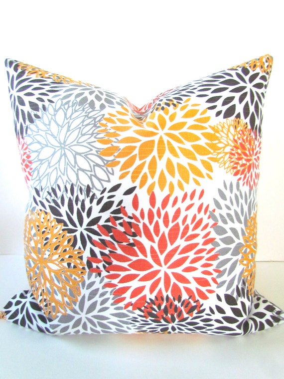 ORANGE OUTDOOR PILLOW Cover Orange Decorative Throw Pillows Etsy Magnificent Orange Decorative Pillows For Couch