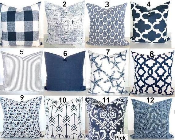 698c4c38ef225 BLUE THROW PILLOWS Blue Pillow Covers Dark Blue Pillows Blue