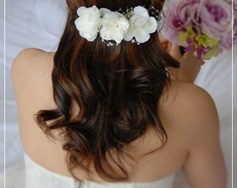 Bridal Flower Head Piece, Bridal Fascinator, Wedding Flower Fascinator, Bridal Hair Flower, Flower Hair Clip