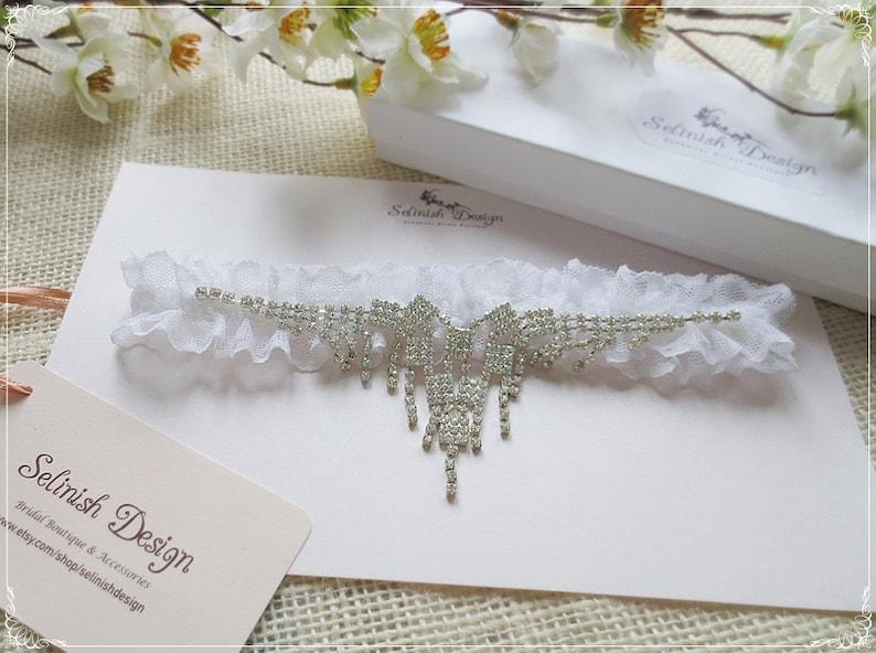 Weddings -G164lux Rhinestone Garter Crystal Garters Keepsake Garter Garters Wedding Garter Bridal Garter