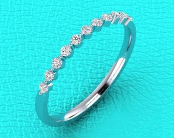1.5mm single prong diamond band