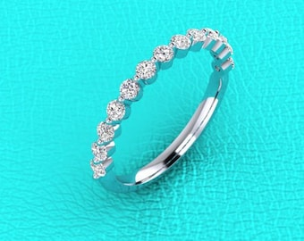 2.1mm single prong Diamond band