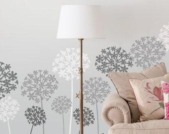 Allium Flower Stencil, Floral Home Decor Art Craft Stencil, Paint walls, Furniture etc - Reusable Mylar, Multipacks available,