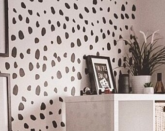 Dalmatian Spots STENCIL c73fd9cdca