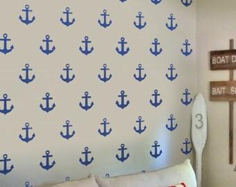 Anker Nautischen Muster Schablone, Kinderzimmer Schablone, Home Dekor  Wandmalerei, Kunst Handwerk Stoff U0026 Möbel Dekoration   Ideale Schablonen Ltd