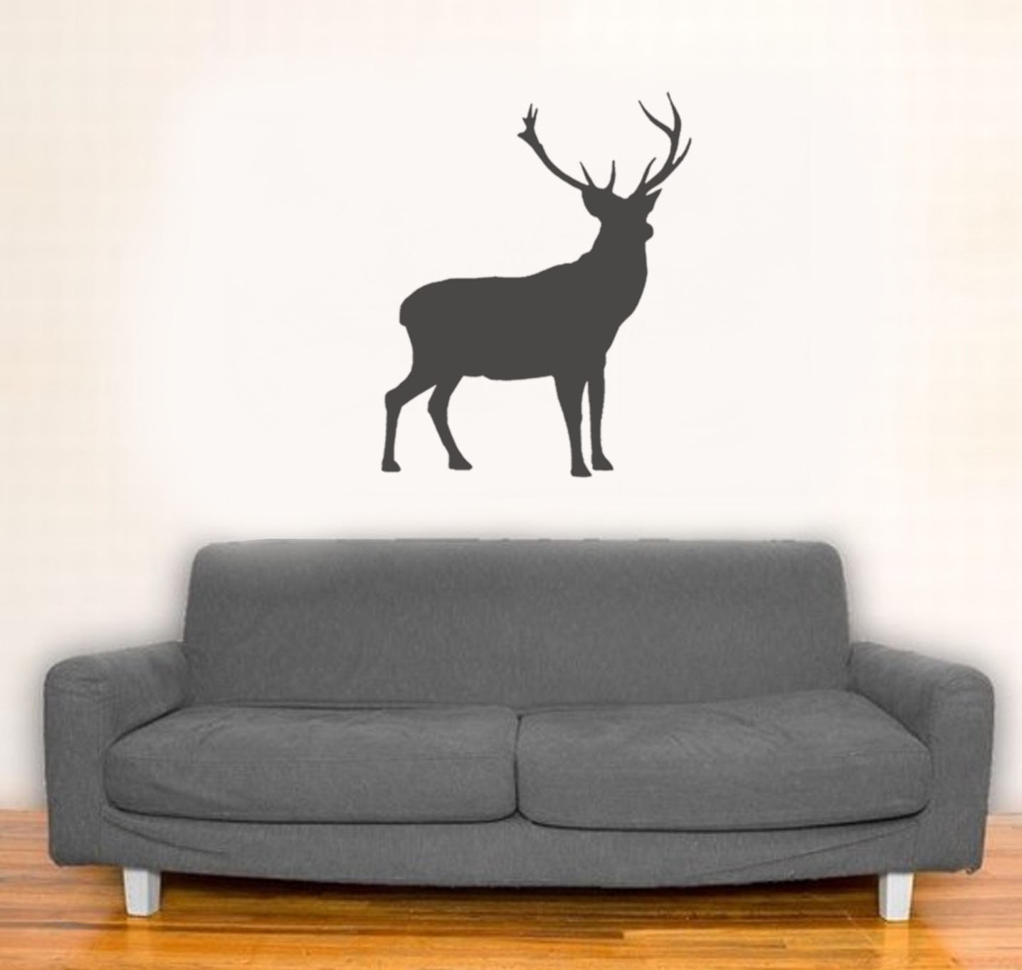 Stag Stencil Deer Decor Painting Stencil Wall Dcor Etsy