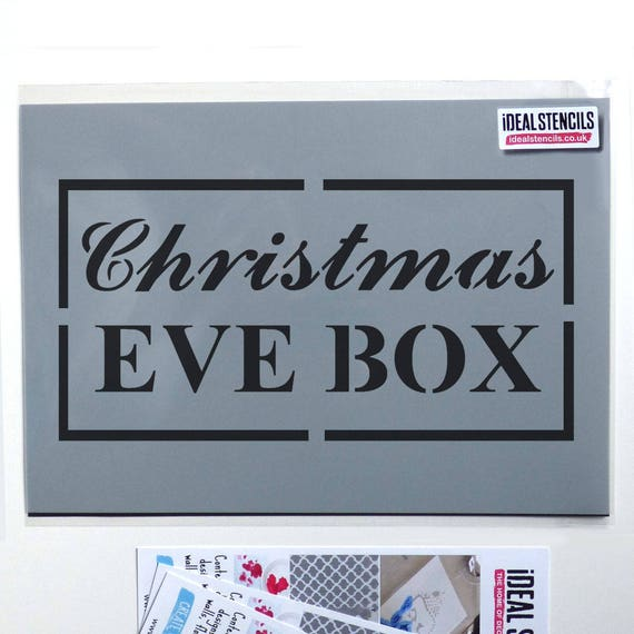 Custom Stencil Reusable Mylar Personalised Christmas Eve Box Stencil Any Name 1