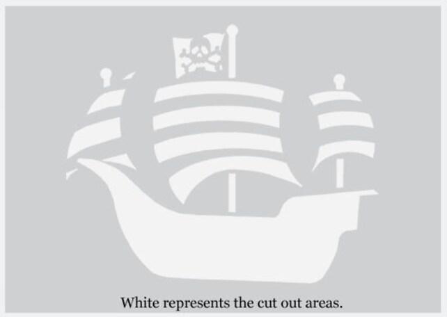 Plantilla de barco pirata decoración náutica tema de piratas | Etsy