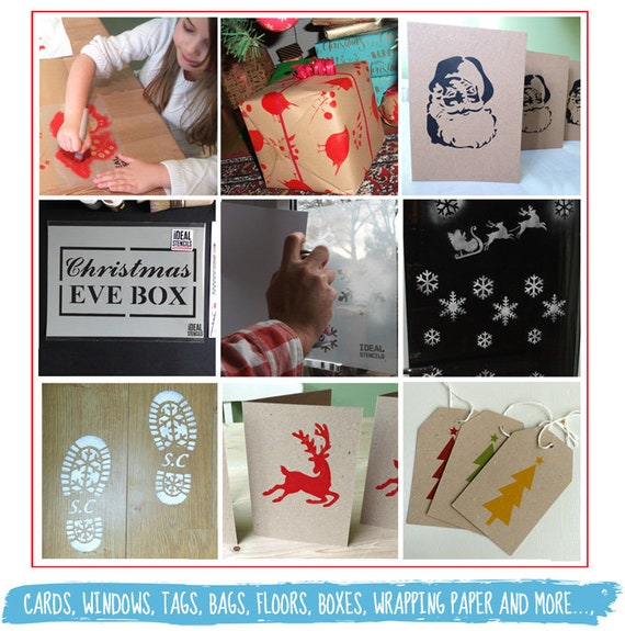 REINDEER CO Christmas Arts /& Crafts Cards Xmas Eve Boxes 190 MYLAR STENCIL A5