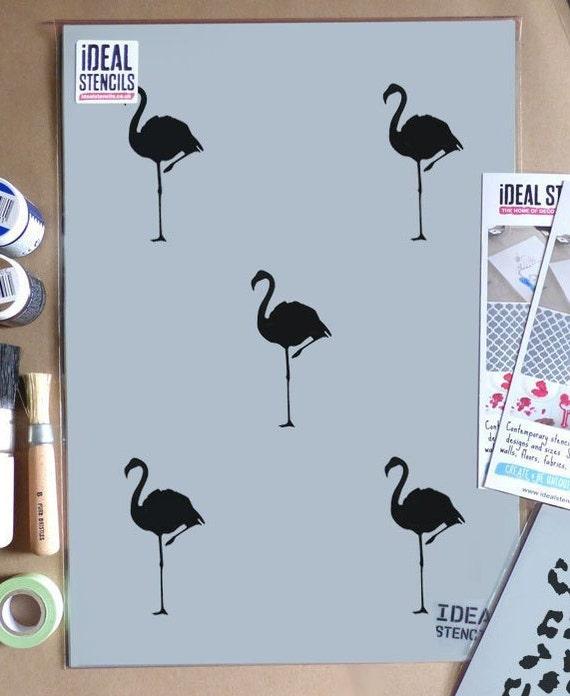 Various Sizes Reusable Flamingo Stencil Art Crafts Wall Decor Wood Signs DIY