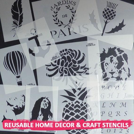 Tiger cara Stencil Home Decor Art Craft pintan paredes Tela Muebles Stencils