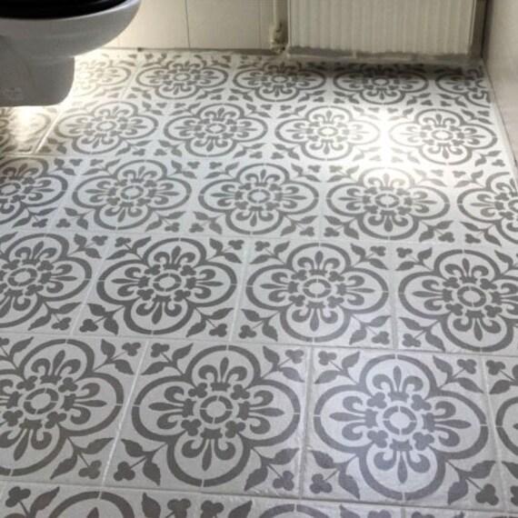Baskische Boden Fliesen Schablone, Farbe Fliesen Muster auf Böden, Wände,  Möbel, wiederverwendbare Home Decor & Handwerk Schablone von idealen ...