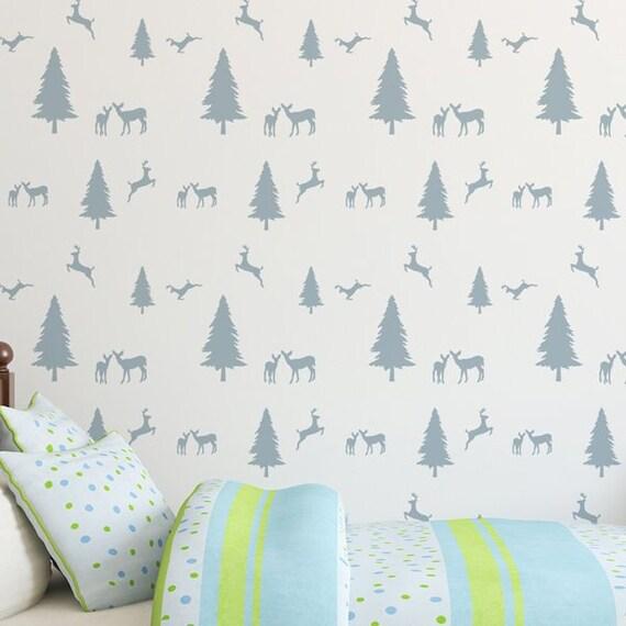 Dinosaur Kids bedroom Wall Repeat Pattern Mylar Decorating DIY Painting Stencil