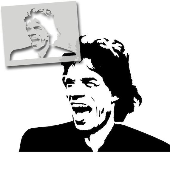 David Bowie Schablone Wand Dekoration Malen Home Art Basteln Wiederverwendbar