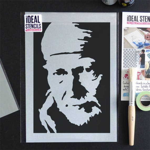 Willie Nelson Stencil Home Decor Art Craft Stencil Painting Etsy