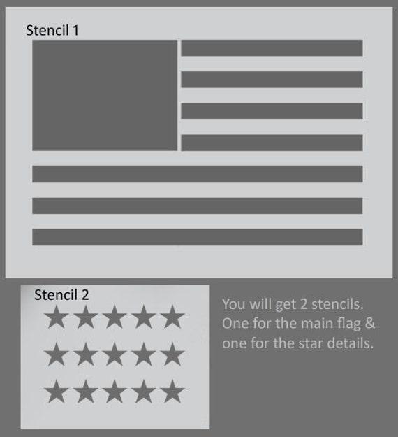 Plantilla de la bandera americana Bandera USA arte de pared | Etsy