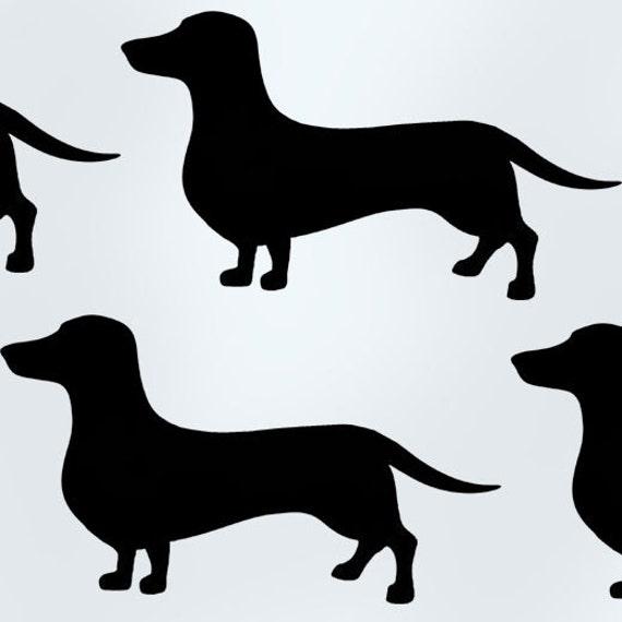 plantilla de perro salchicha dachshund plantillas de arte | Etsy