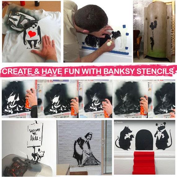 Banksy Sweeping Maid Stencil Reusable Home Decor Art Craft Ideal Stencils Ltd