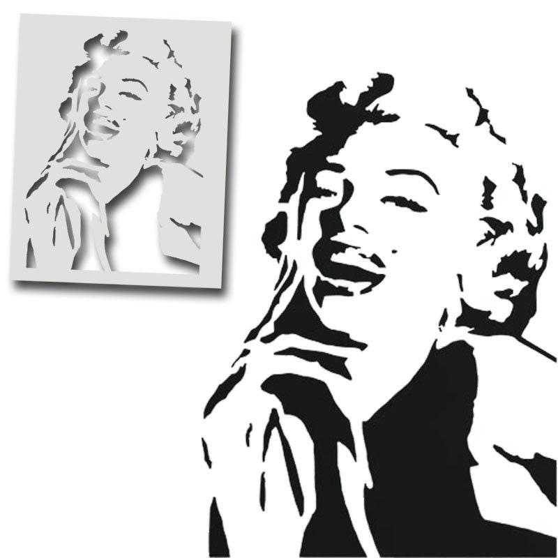 Surfaces artisanat dart de d/écoration pour la maison d/écoration r/éutilisable MARILYN MONROE pochoir mural peinture pochoir peinture sur mesure finition /à plusieurs produits