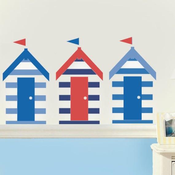 Beach hut stencil