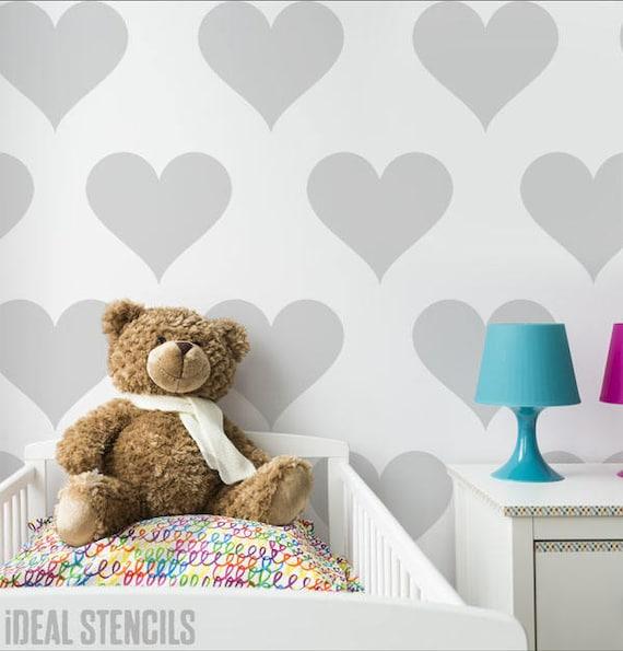 Herz Schablone Herz-Kinderzimmer Kinderzimmer Kinderzimmer | Etsy