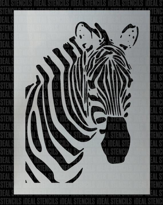 Durable /& Reusable Mylar Stencils Zebra Stencil