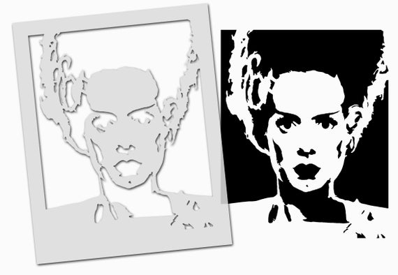 Halloween STENCIL Zombie Head Scary decor craft paint any surface Ideal Stencils