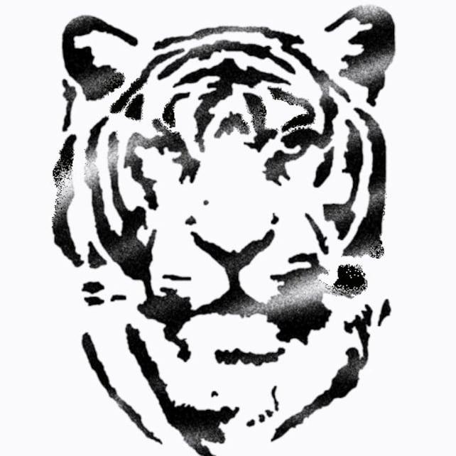 Cara de tigre plantilla hogar decoración manualidades   Etsy