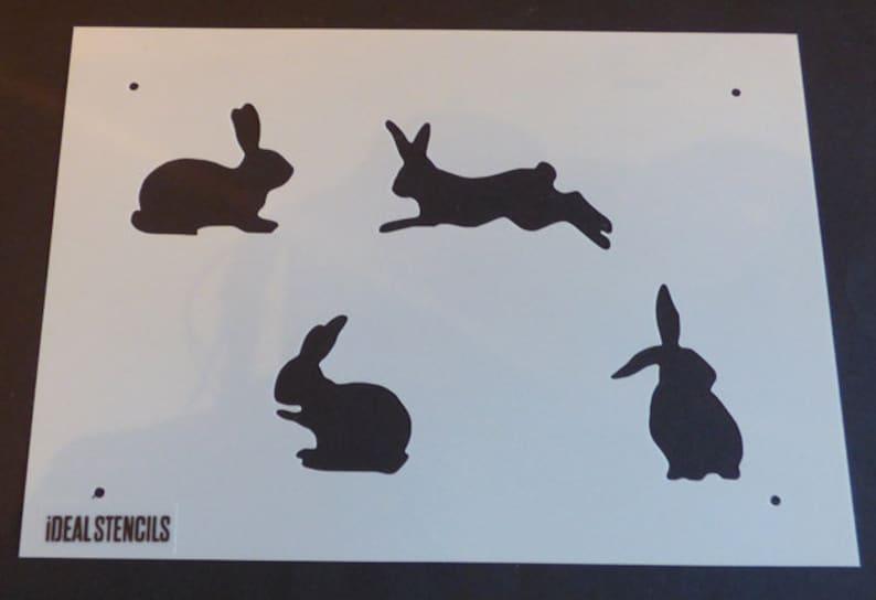 Fabric Bunny Rabbit Nursery Wall Decor Stencil Paint Nursery Walls Furniture Reusable repeat pattern Stencil By Ideal Stencils