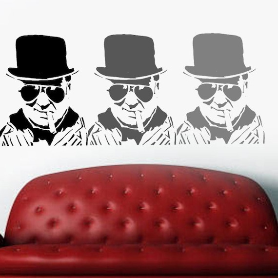 Banksy Winston Churchill STENCIL GRAFFITI Reusable Paint Stencils Ideal Stencils