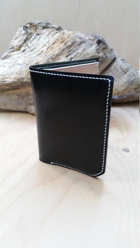 horween cordovan shell bifold wallet etsy. Black Bedroom Furniture Sets. Home Design Ideas