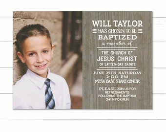 Lds Baptism Invitation Etsy