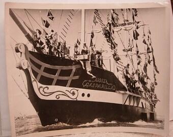 Large 8x9 Photo of the Jose Gasparilla Pirate Ship early 1900's Gasparilla
