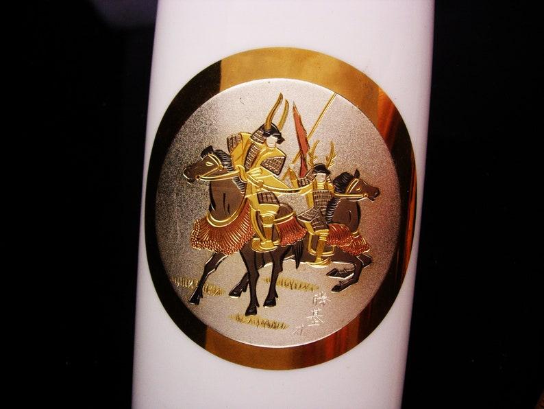 3fe23b828772 Japanese vase Samari 24kt gold trim Vintage chokin | Etsy