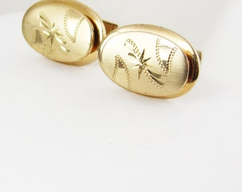 Vintage Diamond Cut Unusual Design Cufflinks Heavy Layered Gold Pat.2,974,381 Anniversary Business Holiday