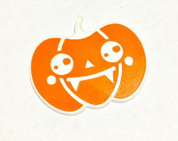 Wood And Acrylic Shapes. 1 Piece.Halloween Pumpkin Charms. Laser Cut Wood And Acrylic