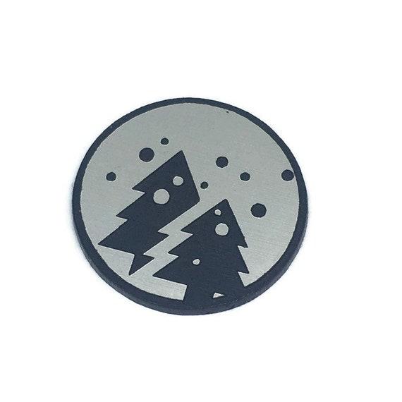 Wood & Acrylic Mini Shapes. 8 Pieces. Twin Christmas Tree Mini Laser Cut Supplies