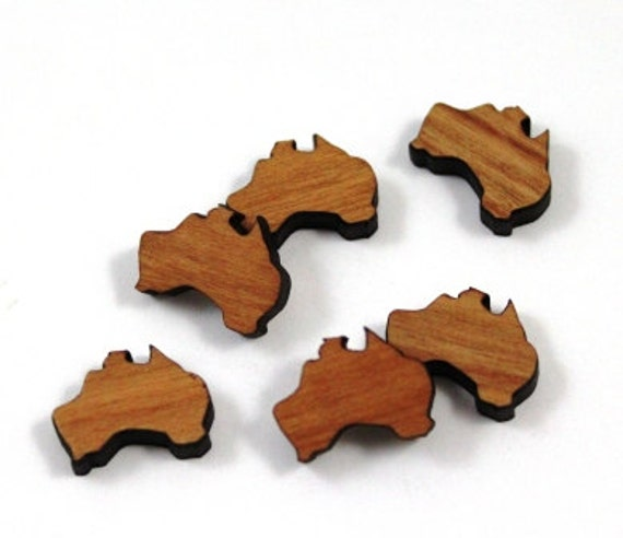 Wood & Acrylic Mini Shapes.8 Pieces  Laser Cut Supplies