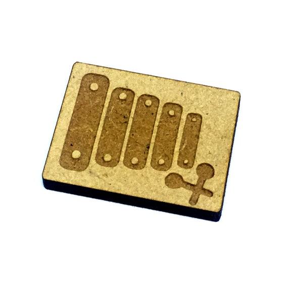 Wood & Acrylic Mini Shapes.8 Pieces.  Xylophone  Mini  Laser Cut Supplies