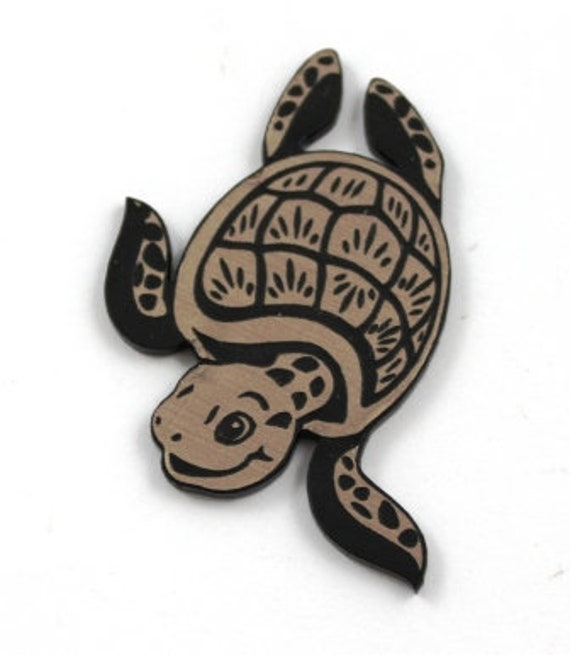 Laser Cut Supplies-1 Piece Turtle Charms-Acrylic and Wood Laser Cut-Jewelry Supplies-Little Laser Lab Wood and Acrylic Products