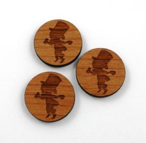 Laser Cut Supplies-1 Piece Mad Hatter Charms-Acrylic and Wood Laser Cut-Jewelry Supplies-Little Laser Lab Wood and Acrylic Products